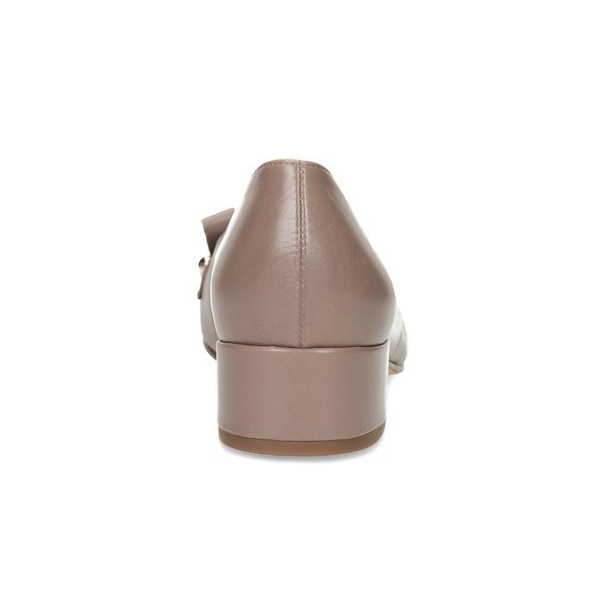 Béžové kožené lodičky so strapcami hogl, béžová, 626-8080 - 15