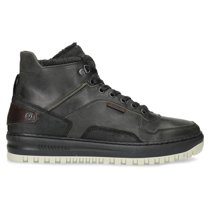Čierna pánska kožená členková obuv bata, čierna, 896-6712 - 19