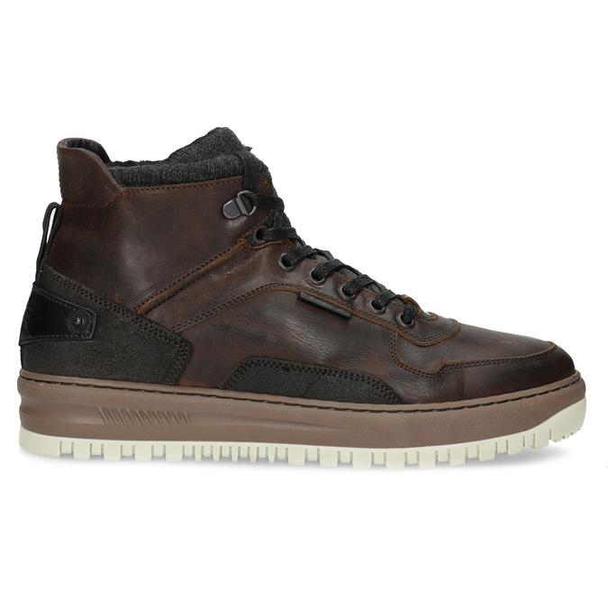 Členková kožená pánska zimná obuv bata, hnedá, 896-3712 - 19
