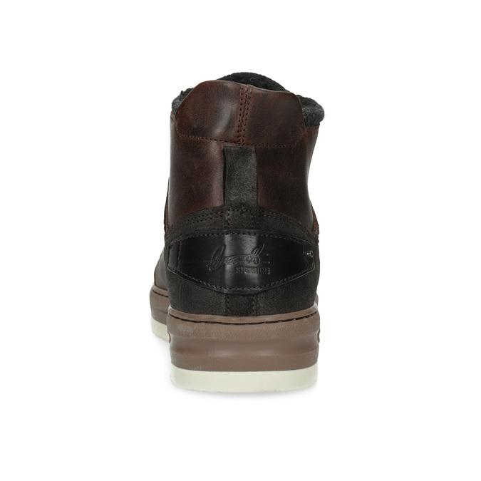 Členková kožená pánska zimná obuv bata, hnedá, 896-3712 - 15