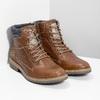 Kožená hnedá pánska členková obuv bata, hnedá, 896-3713 - 26