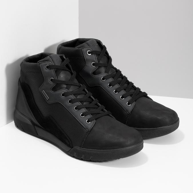 Pánska čierna členková obuv geox, čierna, 821-6033 - 26