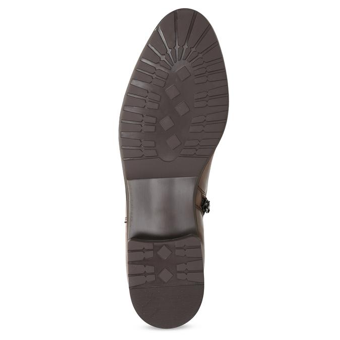 Kožené hnedé dámske čižmy bata, hnedá, 594-4675 - 18