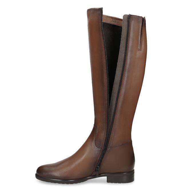 Kožené hnedé dámske čižmy bata, hnedá, 594-4675 - 17