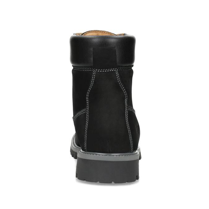 Pánska kožená členková obuv s prešitím weinbrenner, čierna, 896-6733 - 15