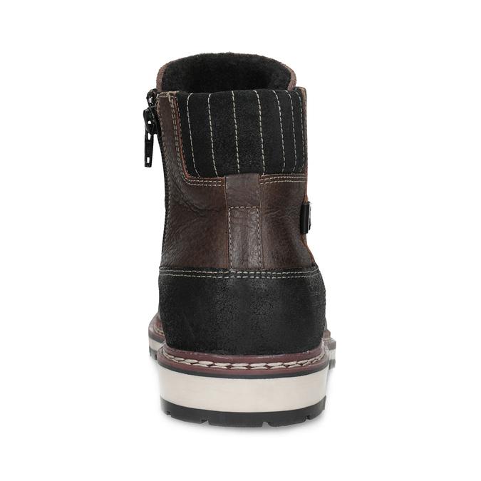 Členková kožená pánska obuv bata, hnedá, 896-4666 - 15