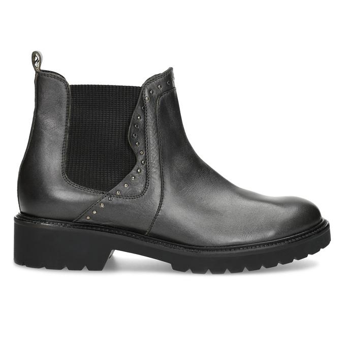 Kožená dámska Chelsea obuv s kovovými cvočkami bata, šedá, 596-9734 - 19