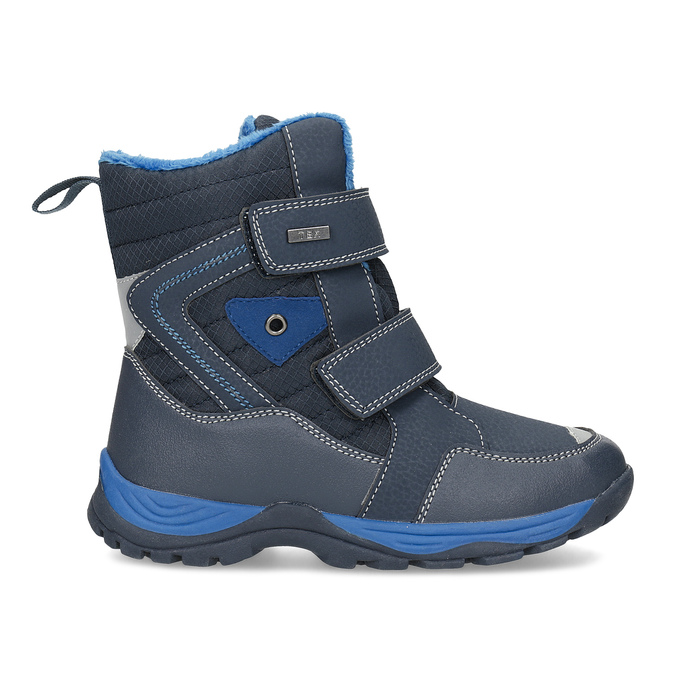 Detská zimná obuv na suchý zips mini-b, modrá, 491-9653 - 19
