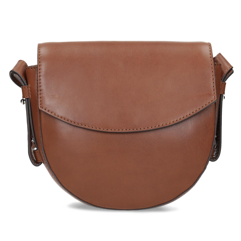 Baťa Hnedá kožená Crossbody kabelka - Malé kabelky  baf0539d278