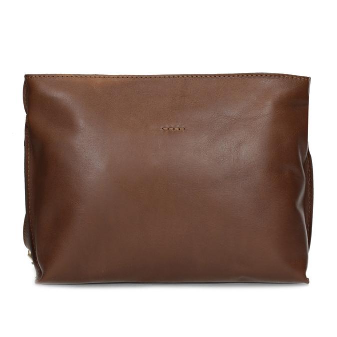 Kožená hnedá crossbody kabelka bata, hnedá, 964-3605 - 26