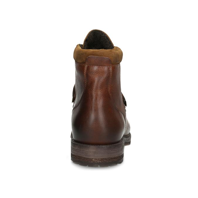 Baťa Kožená pánska členková zimná obuv - Muži  3ec1b88ea57