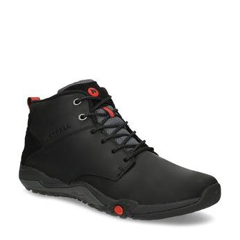 Kožená pánska členková obuv outdoorová merrell, čierna, 806-6102 - 13