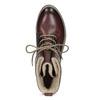 Kožená dámska členková obuv so zateplením bata, červená, 596-5702 - 17