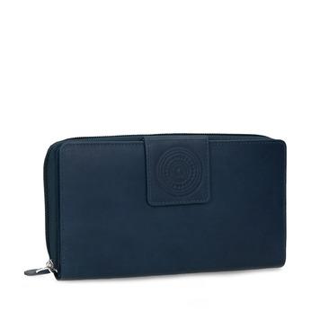 Kožená dámska modrá peňaženka s mandalou bata, modrá, 944-9615 - 13
