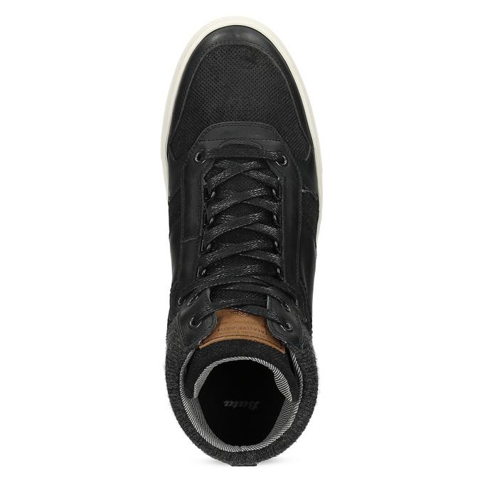 Čierne členkové pánske tenisky bata, čierna, 846-6722 - 17