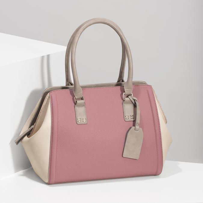 Dámska staroružová kabelka bata-red-label, ružová, 961-5928 - 17