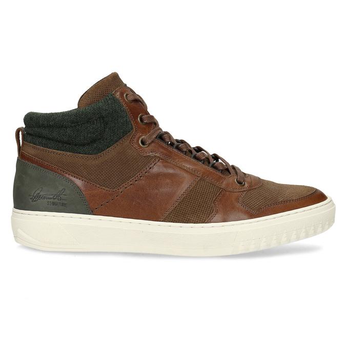 Hnedé členkové kožené tenisky bata, hnedá, 846-3722 - 19