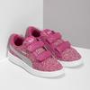 Ružové detské tenisky na suchý zips puma, ružová, 301-5224 - 26
