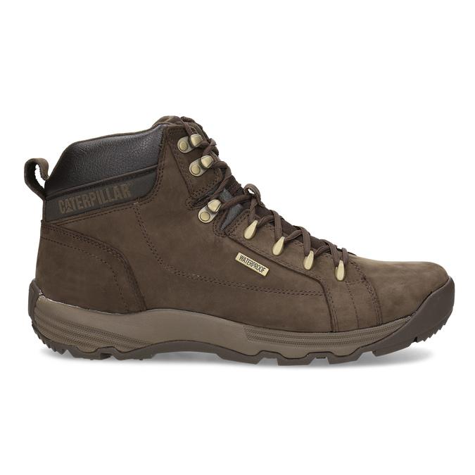 Kožená hnedá pánska outdoorová obuv caterpillar, hnedá, 806-4108 - 19
