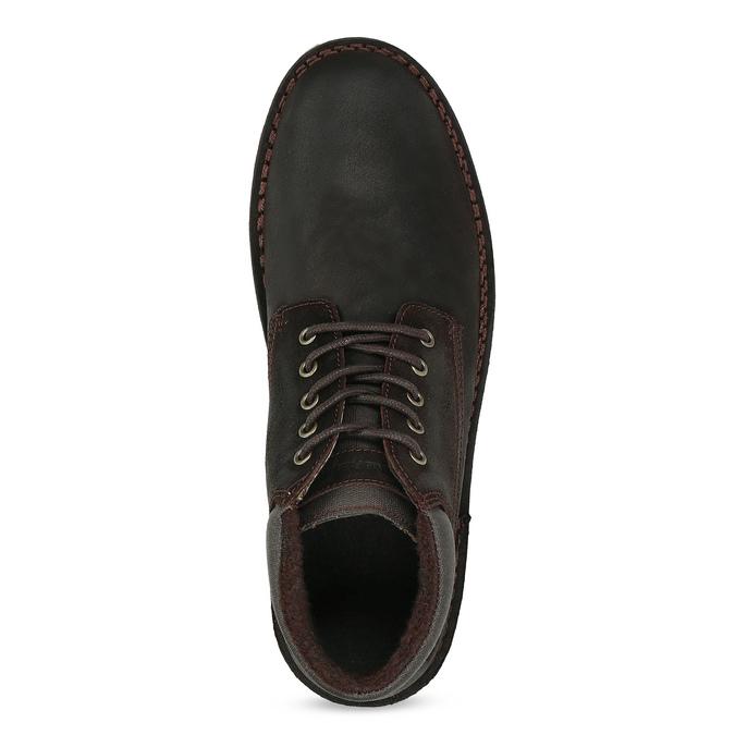Hnedá pánska kožená členková obuv weinbrenner, hnedá, 896-4630 - 17