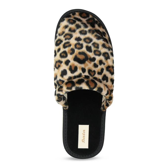 Dámske domáce nazuváky s leopardím vzorom bata, hnedá, 579-8639 - 17