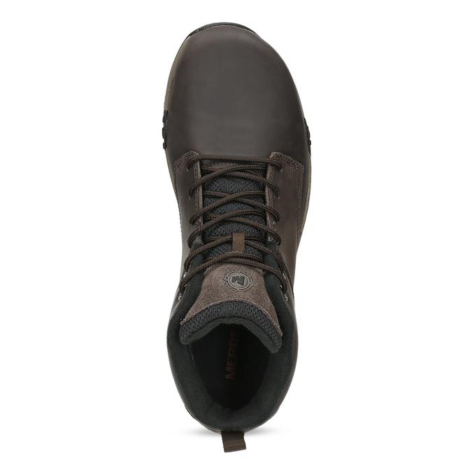 Členková hnedá kožená pánska obuv merrell, hnedá, 806-4102 - 17