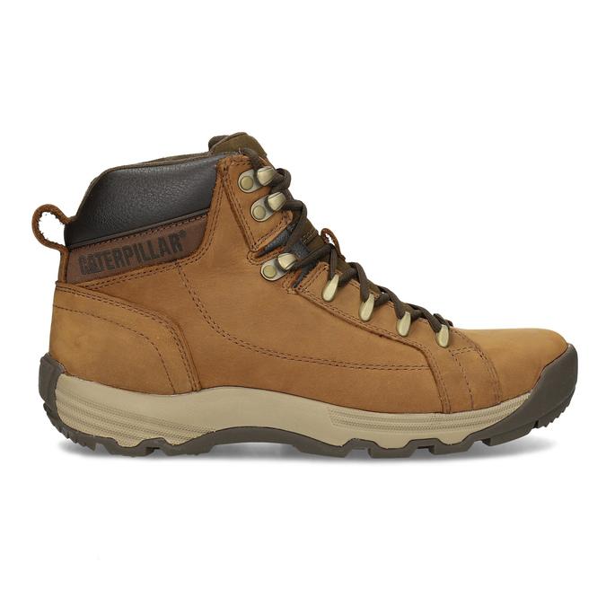 Hnedá pánska kožená členková obuv caterpillar, hnedá, 806-3107 - 19