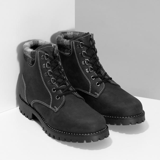 Čierna dámska kožená členková obuv weinbrenner, čierna, 596-6729 - 26