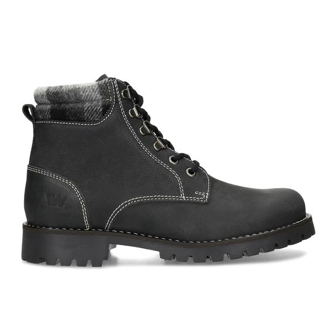 Čierna dámska kožená členková obuv weinbrenner, čierna, 596-6729 - 19
