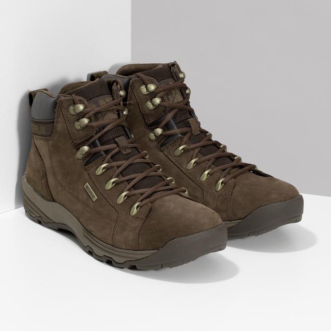 Kožená hnedá pánska outdoorová obuv caterpillar, hnedá, 806-4108 - 26