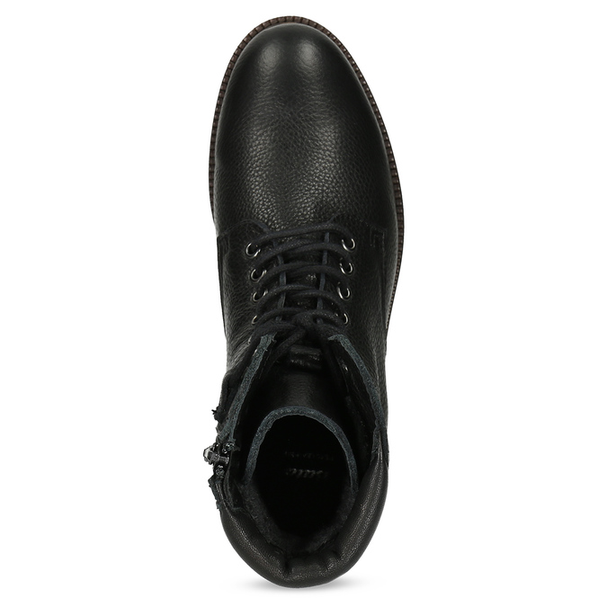 Dámska čierna kožená členková obuv bata, čierna, 596-6722 - 17