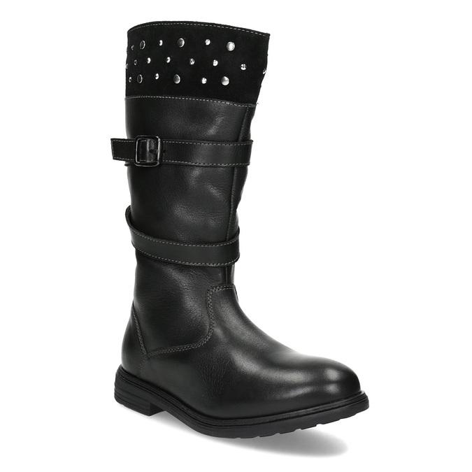 Mini B Dievčenské kožené zimné čižmy s cvočkami - Zimná obuv  39f1a61d00a