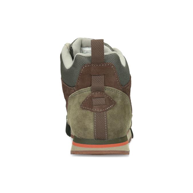 Pánska khaki kožená outdoorová obuv merrell, 803-7104 - 15
