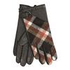 Dámske kožené hnedé kárované rukavice bata, hnedá, 904-4138 - 13