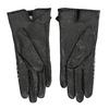 Dámske kožené čierne rukavice kárované bata, čierna, 904-6138 - 16