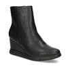 Dámska čierna členková obuv na kline bata-b-flex, čierna, 791-6630 - 13