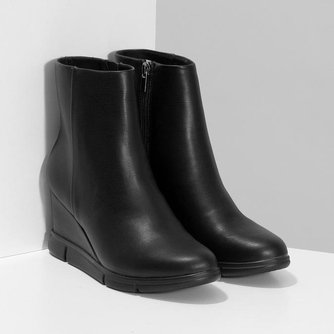 Dámska čierna členková obuv na kline bata-b-flex, čierna, 791-6630 - 26