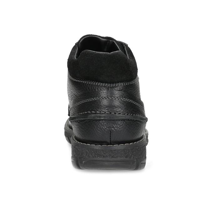 Pánske kožené zimné topánky bata, čierna, 894-6715 - 15