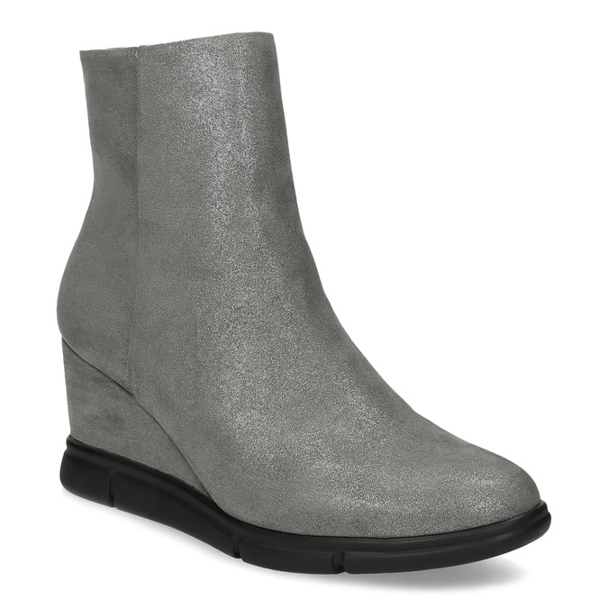 Dámska členková obuv na kline strieborná bata-b-flex, strieborná, 799-2642 - 13