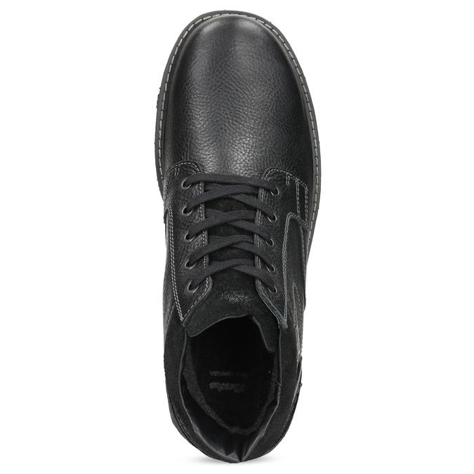 Pánske kožené zimné topánky bata, čierna, 894-6715 - 17