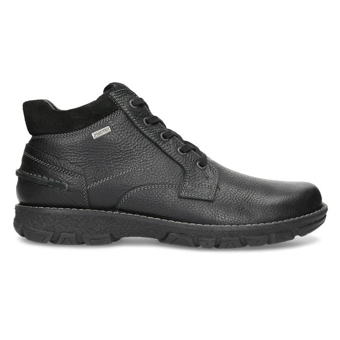 Pánske kožené zimné topánky bata, čierna, 894-6715 - 19