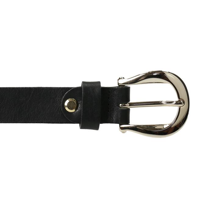 Dámsky čierny kožený opasok bata, čierna, 954-6202 - 26