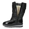 Dámske čierne zimné topánky s výraznou podrážkou bata, čierna, 599-6622 - 17