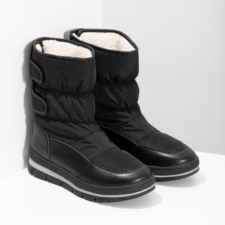 deac441d98fb8 ... Čierne dámske snehule s výraznou podrážkou bata, čierna, 599-6625 - 26  ...