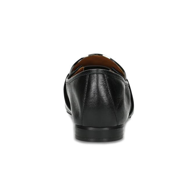 Kožené dámske čierne mokasíny calvin-klein, čierna, 514-6075 - 15