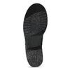 Kožené dámske čižmy s prackou bata, čierna, 594-6719 - 18