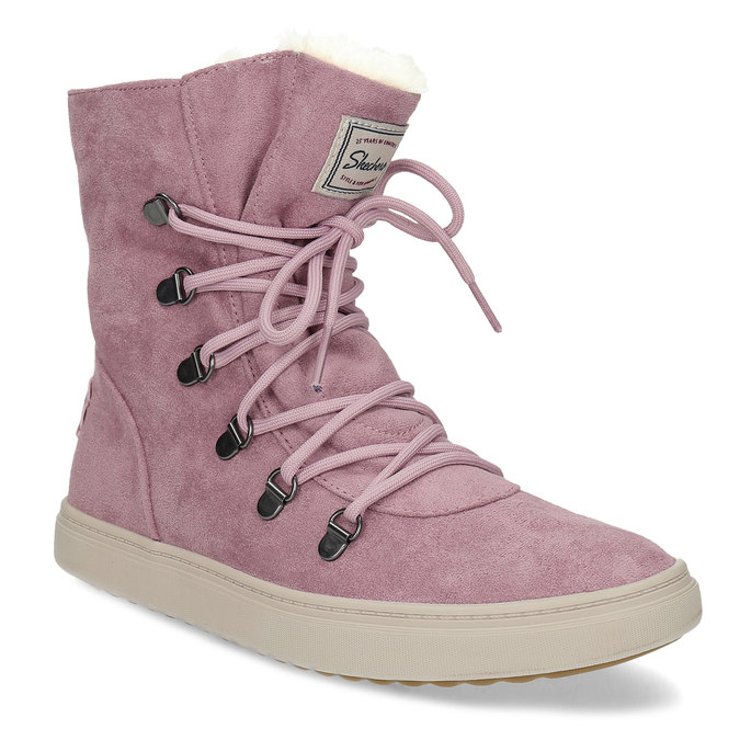 Skechers Dámska ružová zimná obuv so zateplením - Členková  5b5a9fcbc8a