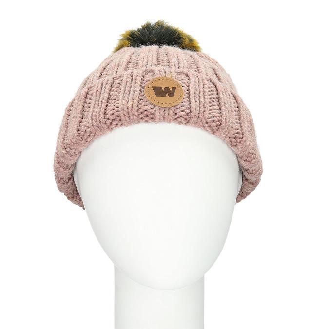 Ružová dámska čapica s bambuľkou weinbrenner, ružová, 909-5726 - 26