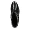 Dámska kožená členková obuv s vysokým šnurovaním hogl, čierna, 524-6064 - 17