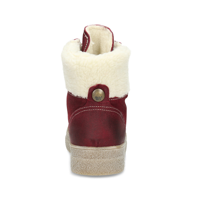 Kožená vínová dámska členková obuv weinbrenner, červená, 596-5756 - 15